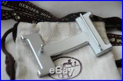 New Herme's 42mm Belt Buckle H Silver Only Buckle