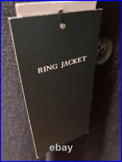 New Men's Raglan Double-Breasted Coat BY RING JACKET, Size 42R, Color Navy