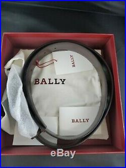 New Mens Bally Mirror B Buckle Leather Reversible Belt Size 110 / 44 Adjustable