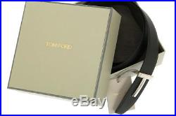 New Tom Ford Black Brown Leather T Icon Buckle Reversible Belt 115/46