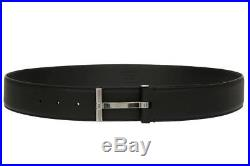 New Tom Ford Current Luxury Men's Black Calf Leather T-buckle Belt 90/36