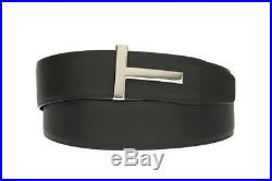 New Tom Ford Luxury Black Brown Leather T-icon Buckle Reversible Belt 100/40 Box