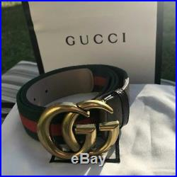 New gold buckle Gucci Belt clássic Green/Red strap sport strap, size 34-38