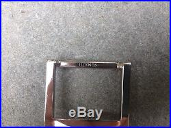 OOP HERMÈS French Made Signature H Solid Brass Palladium Plated Belt Buckle