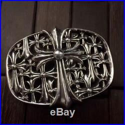 ORDER Authentic CHROME HEARTS 925 Sterling Silver Buckle Belt COLLECTION