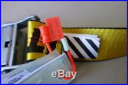 Off-White Industrial Belt Yellow c/o VIRGIL ABLOH Logo Strap Buckle OFFWHITE New