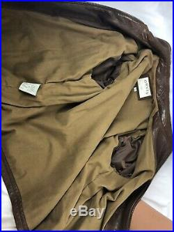 Orvis Men's XL Leather Jacket Brown Sporting Traditions Zip Front Buckles
