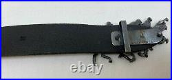 Polo Ralph Lauren M Polo Match Equestrian Black Leather Belt Made In Italy SizeM