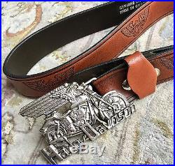Quality Vintage (1980s) Harley Davidson Belt & Buckle In Excellent Condition