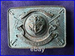 Ralph Lauren RRL 2 inch Aged Anchor All Hands To Honor & Respect Belt Buckle