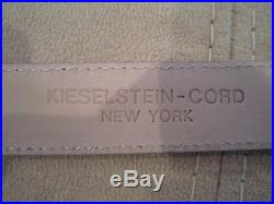 Rare! Kieselstein-Cord Sterling Dragon Buckle with Brown Leather Belt