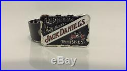 Retro Black Jack Daniels Belt Buckle With Or Without Snap On Belt FREE POSTAGE