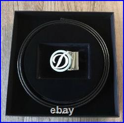 S. T. Dupont 30mm Reversible Belt With Iconic D Buckle, 7320120, New In box