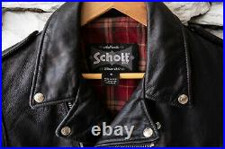 Schott NYC x LB Bowery Leather Jacket Lucky Brand 626VN Perfecto Small S NWT
