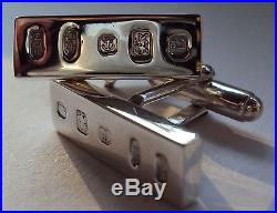 Solid Sterling Silver Belt Buckle The Piccadilly Suite with Keeper & Cufflinks