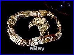 Stefano Ricci Belt Buckle Golden Eagle Bright Yellow Gold The Most Luxurious 1.3