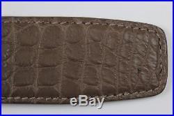 Stefano Ricci Light Brown Crocodile Belt With Gold Buckle- Size 95/34