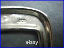 Sterling silver 925 buckle 4 piece set 38 g withGenuine Lizard-1-1/4 to 1belt USA