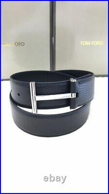TOM FORD Black T Buckle Belt Size 95 cm / 38 Inch (100% Authentic & New)