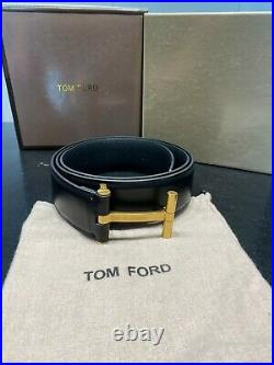 TOM FORD Gold T Buckle Belt Size 100 cm / 40 (100% Authentic & New)