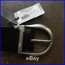 TOM FORD Horse Shoe Buckle Belt in Black & Size 38/95 Runs Small Fits like 34