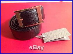 TOM FORD MENS $895 BLACK LEATHER /GOLD BUCKLE BELT SIZE 95/38 ITALY