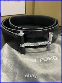 TOM FORD Silver T Buckle Belt Size 110 cm / 44 Inch (100% Authentic & New)