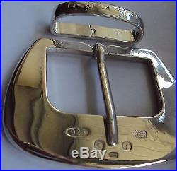 The The Belgravia Solid Sterling Silver Belt Buckle with Belt Keeper
