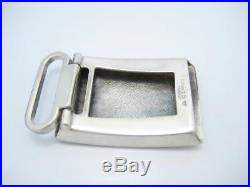 Tiffany & Co. Sterling Silver Plaid Engine Turned Class Belt Buckle Box