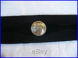 Unisex leather Belt silver buckle handmade brand new Pyrate Style boutique