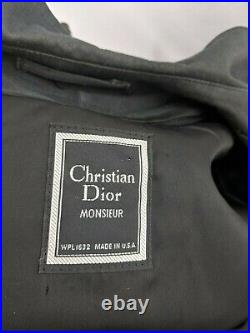 VIntage Christian Dior Monsieur Men's Double Breasted Wool Lined Trench Coat