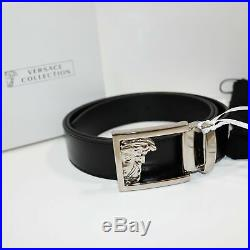 Versace Collection Belt Medusa Head Square Buckle