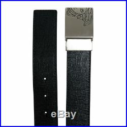 Versace Collection Men's Black Leather Buckle Decorated Belt 30/80 32/85 34/90