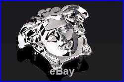 Versace belt buckle Brass Silver medusa Mens belts small for 1.5 strap ITALY