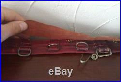 Victorian Officers Sword Belt Silvered And Gilt Buckle Crowned Vr & Wreath Badge
