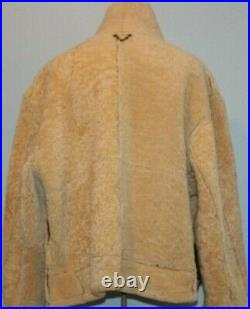 Vintage MacDouglas Real Shearling B-3 Bomber Jacket, Made in France, Size L-XL