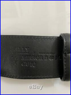Y-1336115 New Bally Anistern Animal Black Gold Buckle Belt Size 90/36 Fits 34